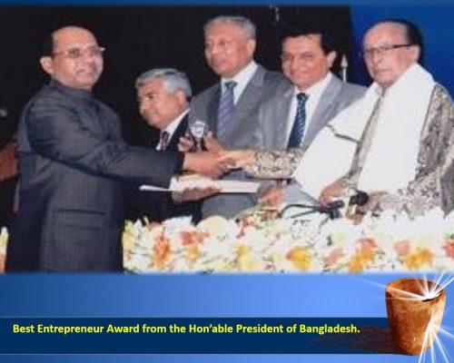 Best Entrepreneur Award from President