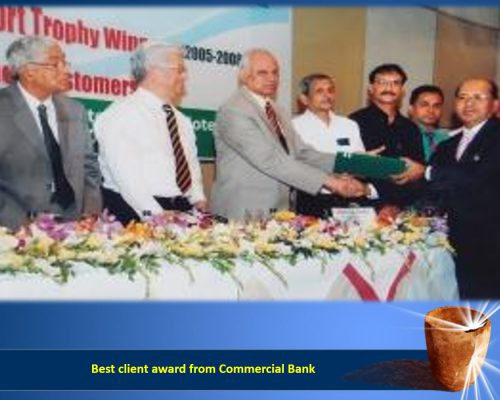Best client award from Commercial Bank
