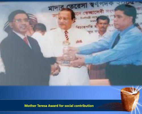 Mother Teresa Award for social contribution